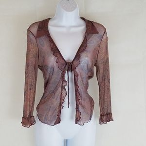 Eyeshadow, Sheer Cover Blouse, Sz Small